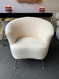 Carlo Monti Curve Living Room Set Armchairs Sofa by Carlo Monti for CMG Italy 1950s - 1258618