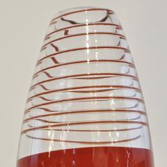 Carlo Moretti Carlo Moretti 1980s Italian Vintage Black Coral Red Crystal Murano Glass Vase - 1189216