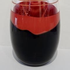 Carlo Moretti Carlo Moretti 1980s Italian Vintage Black Coral Red Crystal Murano Glass Vase - 1189219