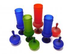 Carlo Moretti Set of Carlo Moretti 1960s Satin Glass Apothecary Jars - 2005169