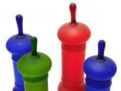 Carlo Moretti Set of Carlo Moretti 1960s Satin Glass Apothecary Jars - 2005170