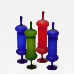 Carlo Moretti Set of Carlo Moretti 1960s Satin Glass Apothecary Jars - 2010017