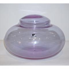 Carlo Moretti Vintage Carlo Moretti 1980s Alexandrite Purple Blue Murano Crystal Box or Vase - 1064539