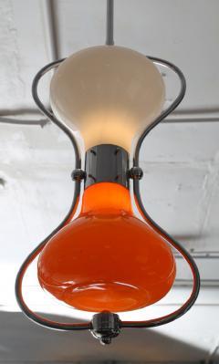 Carlo Nason 1970s Orange and White Hourglass Pendant by Carlo Nason for Mazzega - 521360