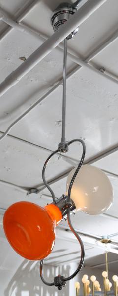 Carlo Nason 1970s Orange and White Hourglass Pendant by Carlo Nason for Mazzega - 521362