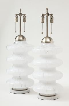 Carlo Nason Carlo Nason Mottled Murano Glass Lamps - 1860421