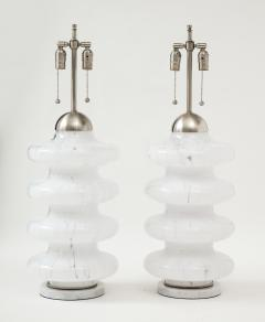 Carlo Nason Carlo Nason Mottled Murano Glass Lamps - 1860422