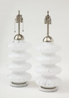 Carlo Nason Carlo Nason Mottled Murano Glass Lamps - 1860423