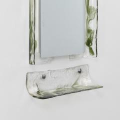 Carlo Nason Carlo Nason Murano glass mirror shelf Mazzega Italy 1970s - 1121773