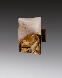 Carlo Nason Carlo Nason Pair Of Wall Lights In Glass And Brass Mazzega Murano Late 1960s - 1928864