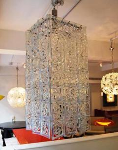 Carlo Nason Carlo Nason Very Large Scale Rectangular Glass Chandelier Italy Circa 1960 - 242162