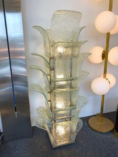 Carlo Nason Floor Lamp Cactus LT 320 by Carlo Nason for Mazzega Murano 1970s - 1035359