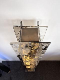Carlo Nason Floor Lamp Tower Murano Glass by Carlo Nason for Mazzega Italy 1970s - 2011507