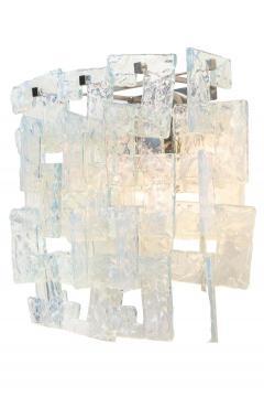 Carlo Nason Interlocking Opalescent Glass Mazzega Sconces Italy 1970s - 1295427