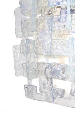Carlo Nason Interlocking Opalescent Glass Mazzega Sconces Italy 1970s - 1295428