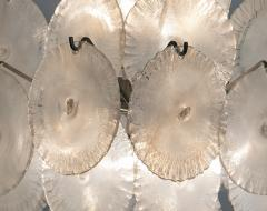 Carlo Nason Italian Modern opalescent glass chandelier - 1224692