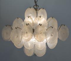 Carlo Nason Italian Modern opalescent glass chandelier - 1224693
