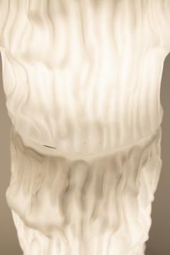 Carlo Nason Italian floor lamp by Carlo Nason for Mazzega in white Murano glass 1960S - 1604785