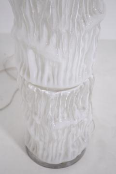 Carlo Nason Italian floor lamp by Carlo Nason for Mazzega in white Murano glass 1960S - 1604789
