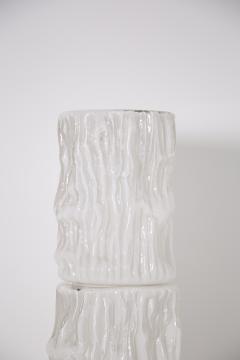 Carlo Nason Italian floor lamp by Carlo Nason for Mazzega in white Murano glass 1960S - 1604790