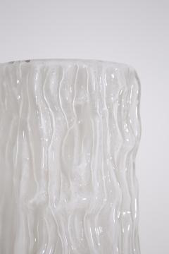 Carlo Nason Italian floor lamp by Carlo Nason for Mazzega in white Murano glass 1960S - 1604791