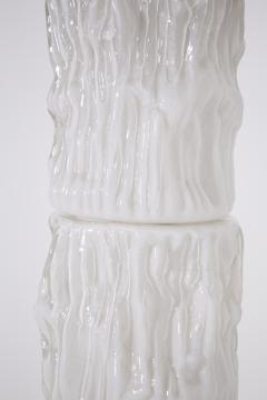 Carlo Nason Italian floor lamp by Carlo Nason for Mazzega in white Murano glass 1960S - 1604794