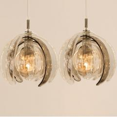 Carlo Nason Pair of Sculptural Artichoke Chandeliers by Carlo Nason for Mazzega Italy - 1314930