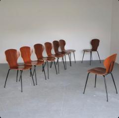 Carlo Ratti 8 Dining Chairs in Plywood Mod Lulli  - 2071239