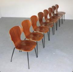 Carlo Ratti 8 Dining Chairs in Plywood Mod Lulli  - 2071241