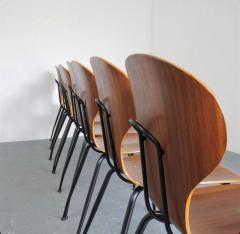 Carlo Ratti 8 Dining Chairs in Plywood Mod Lulli  - 2071243