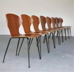 Carlo Ratti 8 Dining Chairs in Plywood Mod Lulli  - 2071245