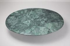 Carlo Scarpa Carlo Scarpa Dining Table Samo in a Rare Green Marble 1970s - 984862