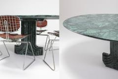 Carlo Scarpa Carlo Scarpa Dining Table Samo in a Rare Green Marble 1970s - 984865