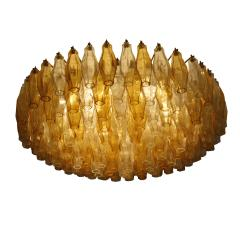 Carlo Scarpa Carlo Scarpa Mid Century Poliedri Murano Glass Pendant Lamp Italy 1960s - 845940