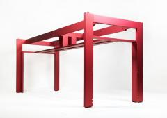 Carlo Scarpa Carlo Scarpa Red Anodized Architectural Doge Dining Table for Cassina Simon - 1051074
