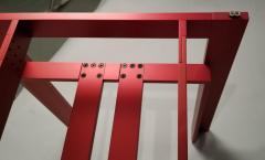 Carlo Scarpa Carlo Scarpa Red Anodized Architectural Doge Dining Table for Cassina Simon - 1051077