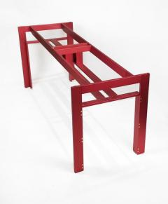 Carlo Scarpa Carlo Scarpa Red Anodized Architectural Doge Dining Table for Cassina Simon - 1051079