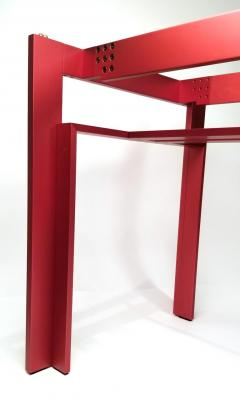Carlo Scarpa Carlo Scarpa Red Anodized Architectural Doge Dining Table for Cassina Simon - 1051080