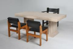 Carlo Scarpa Carlo Scarpa style travertine table or writing desk 1970s - 1311574
