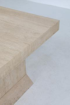 Carlo Scarpa Carlo Scarpa style travertine table or writing desk 1970s - 1311576