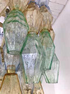 Carlo Scarpa Chandelier Carlo Scarpa Venini Murano Polyhedron Glass Italy 1960s - 775378
