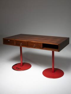 Carlo Scarpa Italian 1960s Wood Desk - 1574947