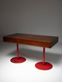 Carlo Scarpa Italian 1960s Wood Desk - 1574948