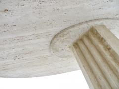 Carlo Scarpa Italian Travertine Oval Top Samo Fluted Carved Base Dining Table Carlo Scarpa - 1117160