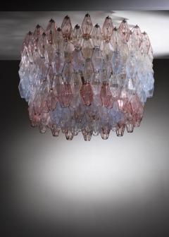 Carlo Scarpa Large Carlo Scarpa Murano Glass Poliedri Chandelier for Venini - 1605972