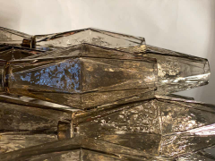 Carlo Scarpa Large Grey Poliedri Murano Glass Ceiling Light Carlo Scarpa Style - 1661263