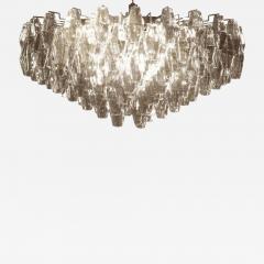 Carlo Scarpa Large Grey Poliedri Murano Glass Ceiling Light Carlo Scarpa Style - 1662416