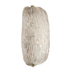 Carlo Scarpa Mid Century Carlo Scarpa Murano Glass Pair of Italian Wall Lights Sconces - 2086001
