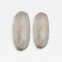 Carlo Scarpa Mid Century Carlo Scarpa Murano Glass Pair of Italian Wall Lights Sconces - 2086180