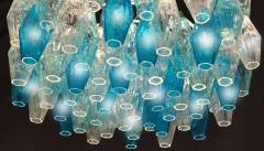 Carlo Scarpa Pair of Murano Glass Poliedri Colored Chandelier in the Style of Carlo Scarpa - 1507714